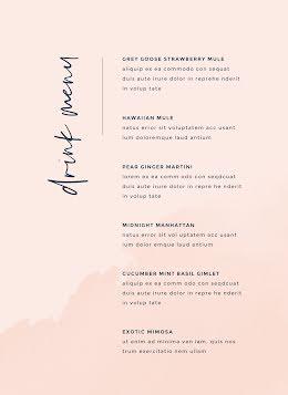 Classy Drinks menu - Drinks Menu item