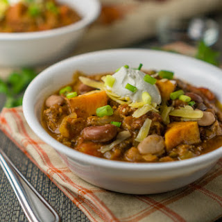 Sweet Potato Mixed Bean Chili