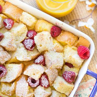 Lemon Raspberry French Toast Casserole.