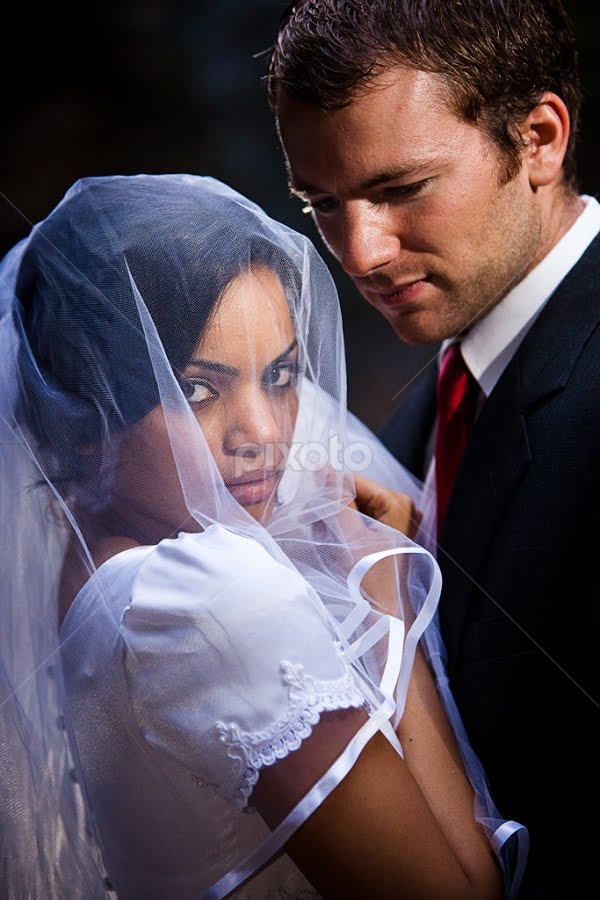 by David Terry - Wedding Bride & Groom ( love, wedding, romantic, couple, bride and groom, romance )