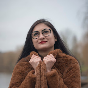 Happiness by Nistorescu Alexandru - People Portraits of Women ( #cold, #winter, #she, #coat, #cosy,  )