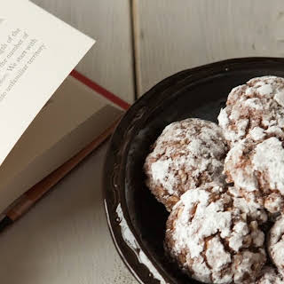 Chocolate Cottage Cheese Crinkle Cookies.
