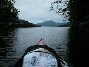 Photo: Entering Klaquaek Channel in the Penrose Islands.