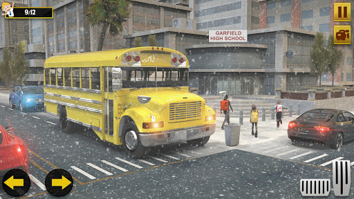 Snow School Bus Pro Game Christmas City bus Driver 1.6 screenshots 2