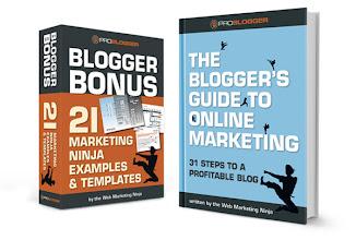 Photo: Blogger's Guide to Online Marketing plus 21 Blogger Bonus pack