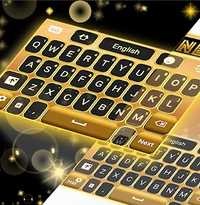 Neon Gold GO Keyboard screenshot 1