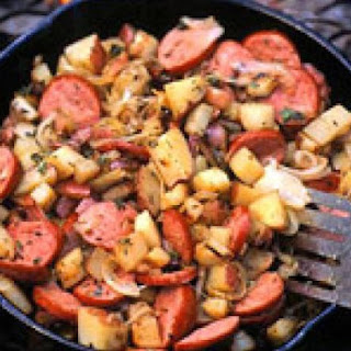 Skillet Sausage and Potatoes.