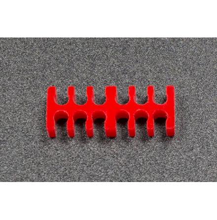 Kabelkam for 12 pins kabel, 2x6 Ø4mm spor, rød