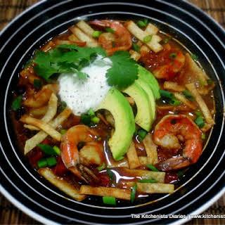 Mexican Shrimp Tortilla Soup.