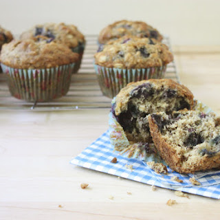 Banana, Blueberry and Ginger Muffins.