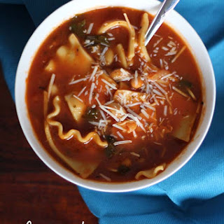 Simple Slow Cooker Lasagna Soup