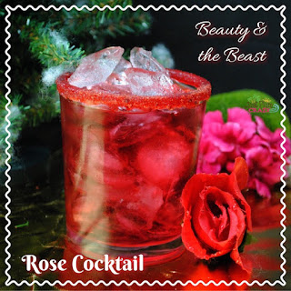 Beauty and The Beast Rose Cocktail Recipe #BeOurGuest #BeautyAndTheBeast.
