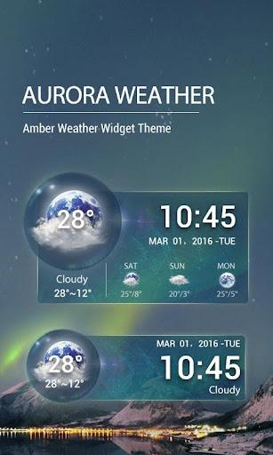 Aurora Weather Clock Widget