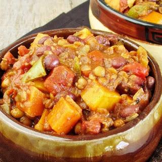 Veggie Black Bean & Lentil Chili with Stout.
