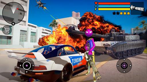 Spider Stickman Rope Hero 2 - Vegas Gangster Crime apktram screenshots 3
