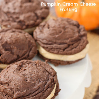 Oreo Cookies with Pumpkin Cream Cheese Frosting.