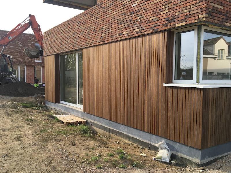 Houten gevelbekleding - Project van 9 woningen
