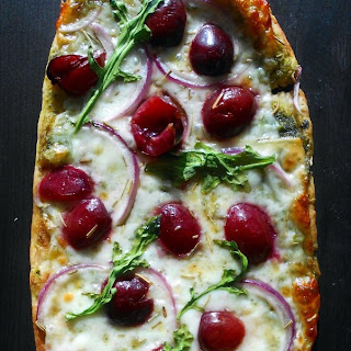 Flatbread Pizza with Cherries.