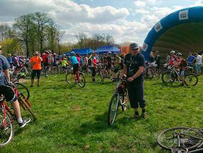 Photo: ...i ja pośród cyklistów :)