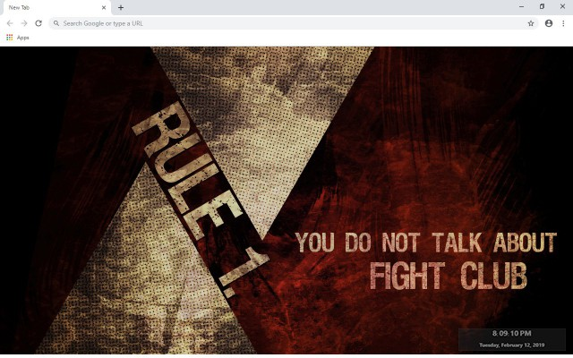 Fight Club New Tab & Wallpapers Collection