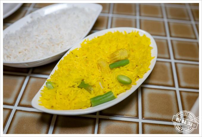 瑪哈印度餐廳印度白米飯薑黃飯