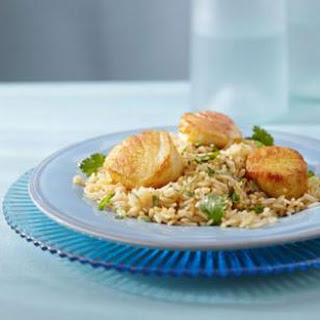 Curry Scallops & Cilantro Rice for Two