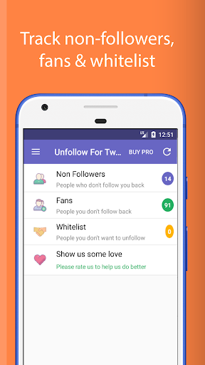 Screenshot for Unfollow for Twitter Pro in Hong Kong Play Store