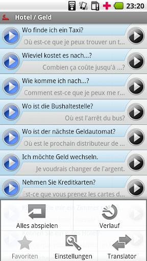 iSayHello German - French free 3.1.1 screenshots 3