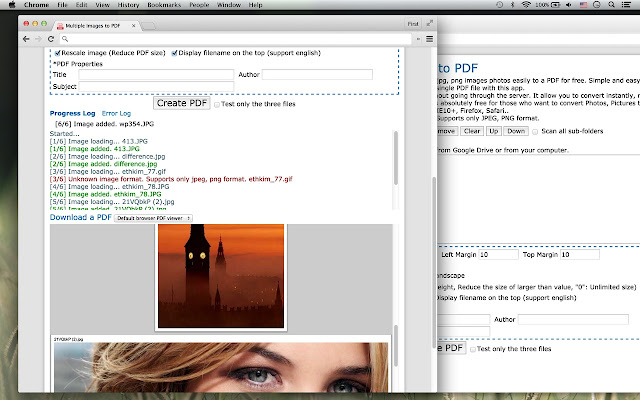 Multiple Images to PDF