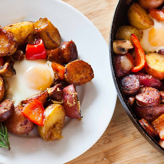 Potato Breakfast Skillet with Sausage and Mushrooms