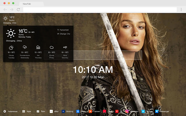 Pirates of the Caribbean HD New Tab Themes