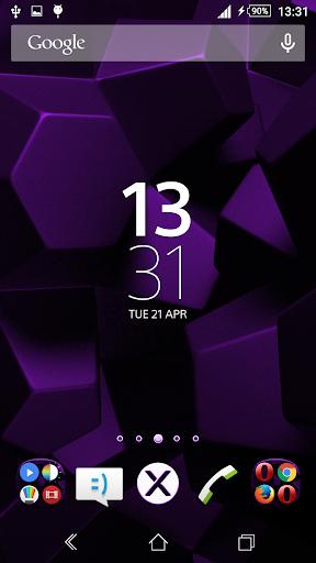 Theme Xperien Cubes Purple