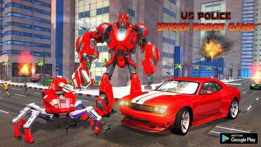 Spider Robot Car Transform Action Games  screenshots 1