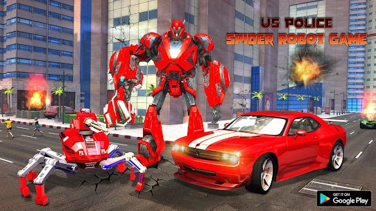 Spider Robot Car Game – Robot Transforming Games 1