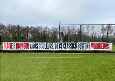 📷 Supporters van Standard hebben nog een boodschap voor de Clasico tegen Anderlecht