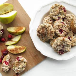 Gluten-Free Apple Cranberry Rhubarb Muffins.