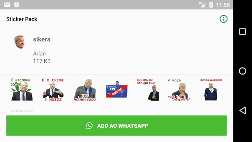 Sikera Figurinhas para Whatsapp screenshots 3