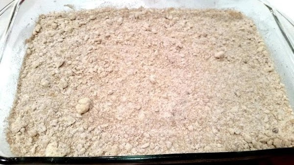 Spread batter evenly into prepared dish. Sprinkle evenly with the 1 cup of crumb...