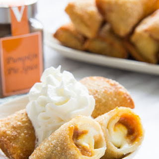 Pumpkin Cheesecake Egg Rolls