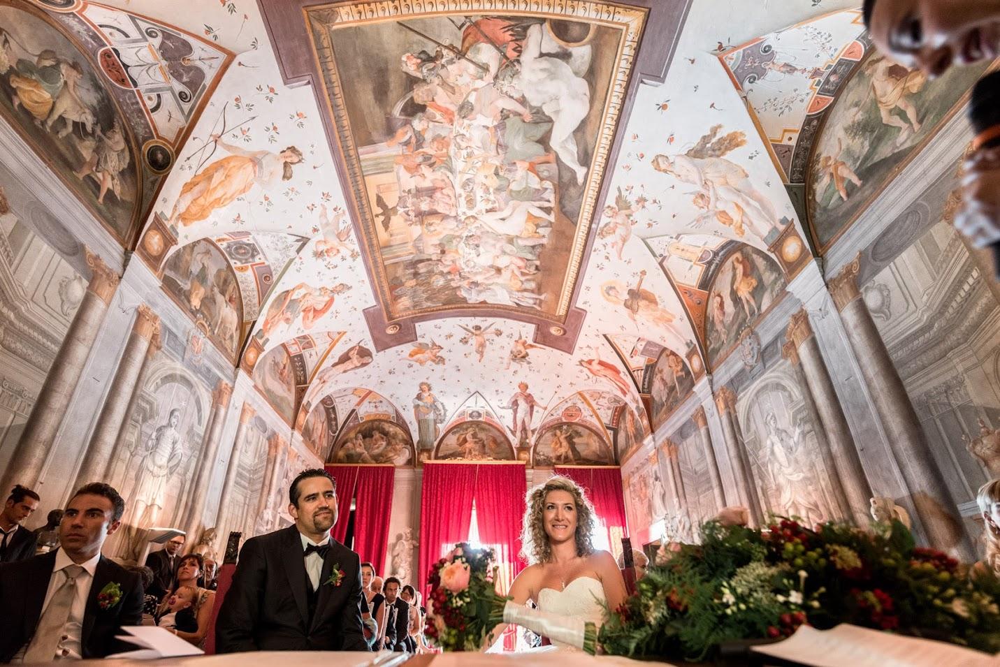 La sala delle cerimonie a Villa di Corliano