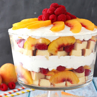 Peach Raspberry Sangria Trifle.