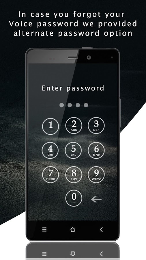 Smart Voice Lock Screen- screenshot