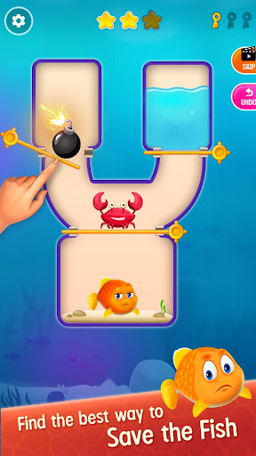 Save the Fish - Pull the Pin Game 10.6 screenshots 1
