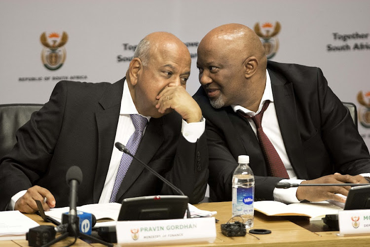 Finance Minister Pravin Gordhan, left, and Deputy Finance Minister Mcebisi Jonas. Picture: TREVOR SAMSON