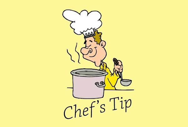 "Chef's Tip: Use a wooden spoon and press against the sauce to ""push"" it..."