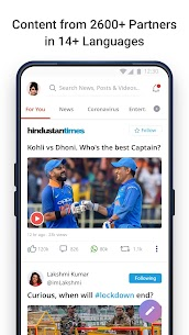 Dailyhunt (Newshunt)- Cricket, News,Videos v16.0.9 [AD FREE] 1