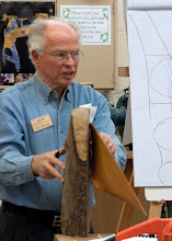 Photo: Here Phil shows an example of how the bowl was in the log.