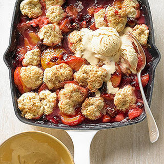 Holiday Cobbler with Cinnamon Ice Cream