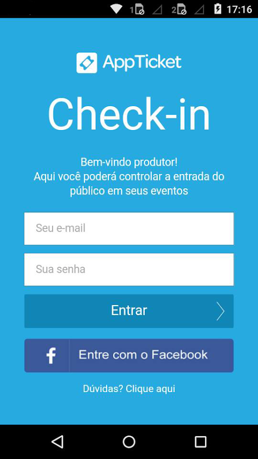 Check-in AppTicket: captura de tela