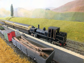 Photo: 021 The pioneering Tasmanian Garratt loco at work at Slaggyford, 4mm scale 7.85mm gauge .